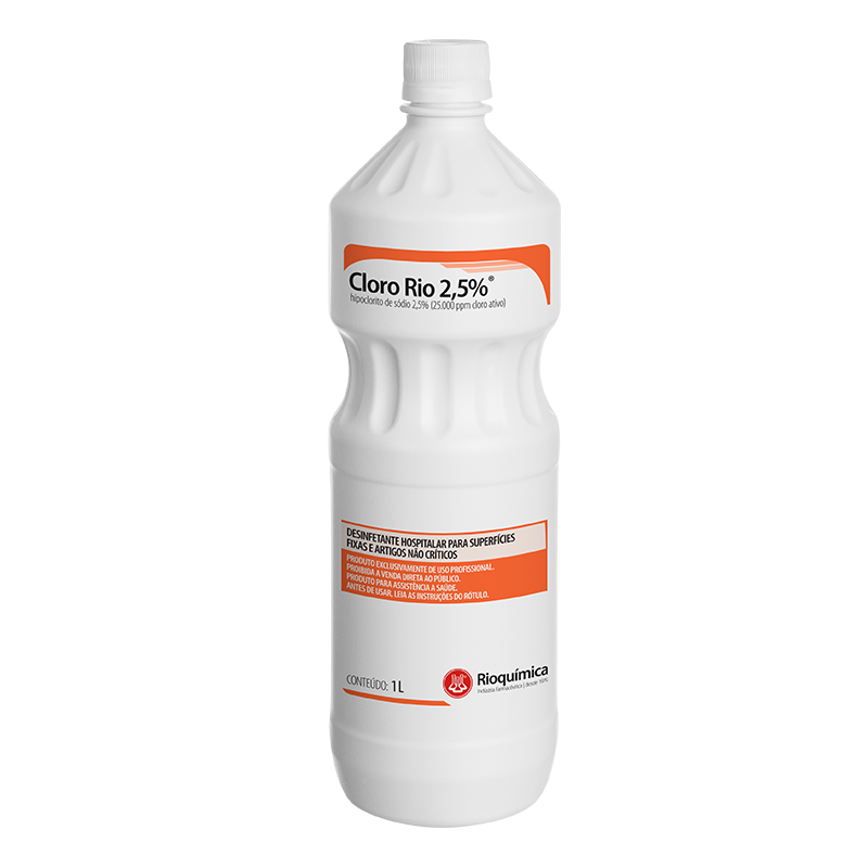Rio QuímicaCloro Rio 2,5%® 1L